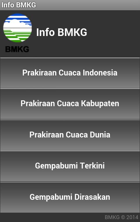 Aplikasi Android Info BMKG
