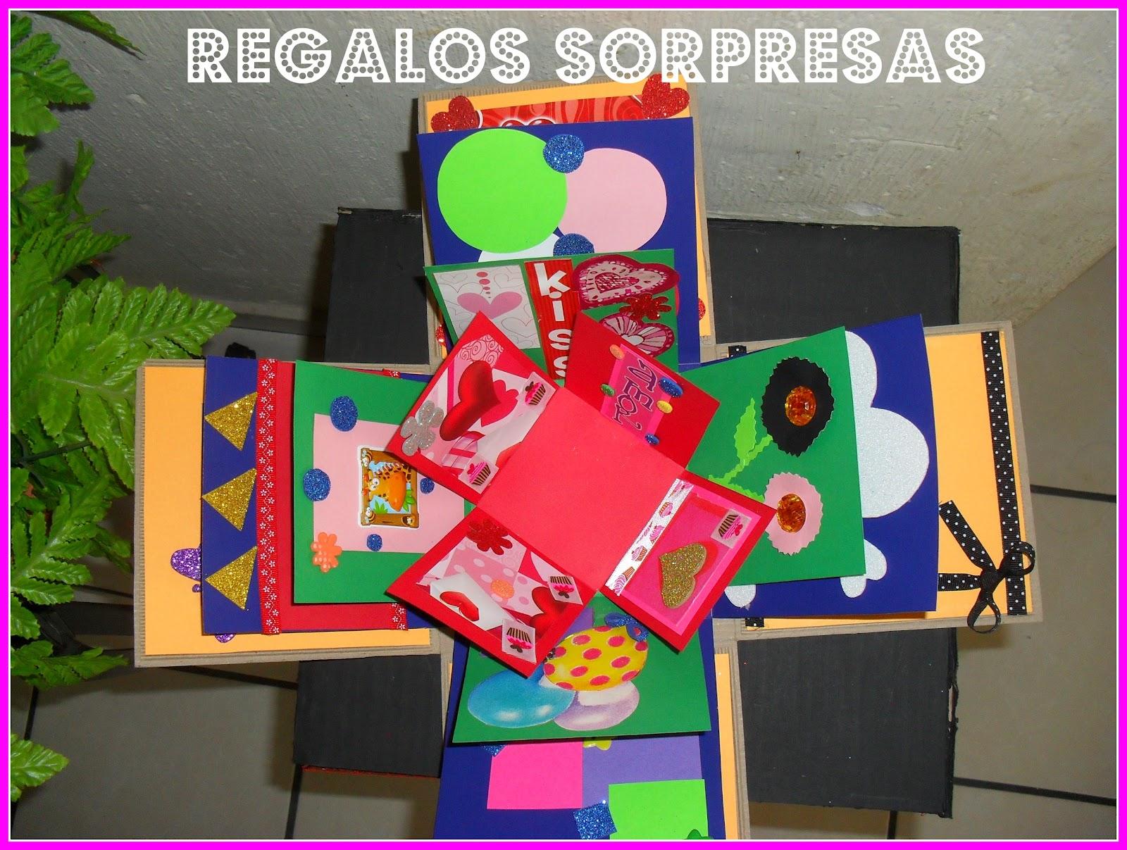 Regalos sorpresas cajas explosivas for Cajas de carton pequenas decoradas