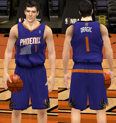 NBA 2K13 New Phoenix Suns 2013-14 Away Jersey Patch