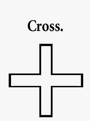 Geometrical figure with names Sunday school kids coloring cross best-known symbol of Christianity