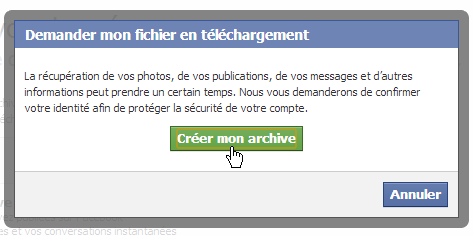 capture d'écran Facebook