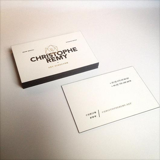 Gold Foiled Business Card