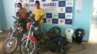 POLICIAIS DO 5°BPM/COARI RECUPERAM 05 (cinco) MOTOCICLETAS FURTADAS/ROUBADAS NA CIDADE DE COARI
