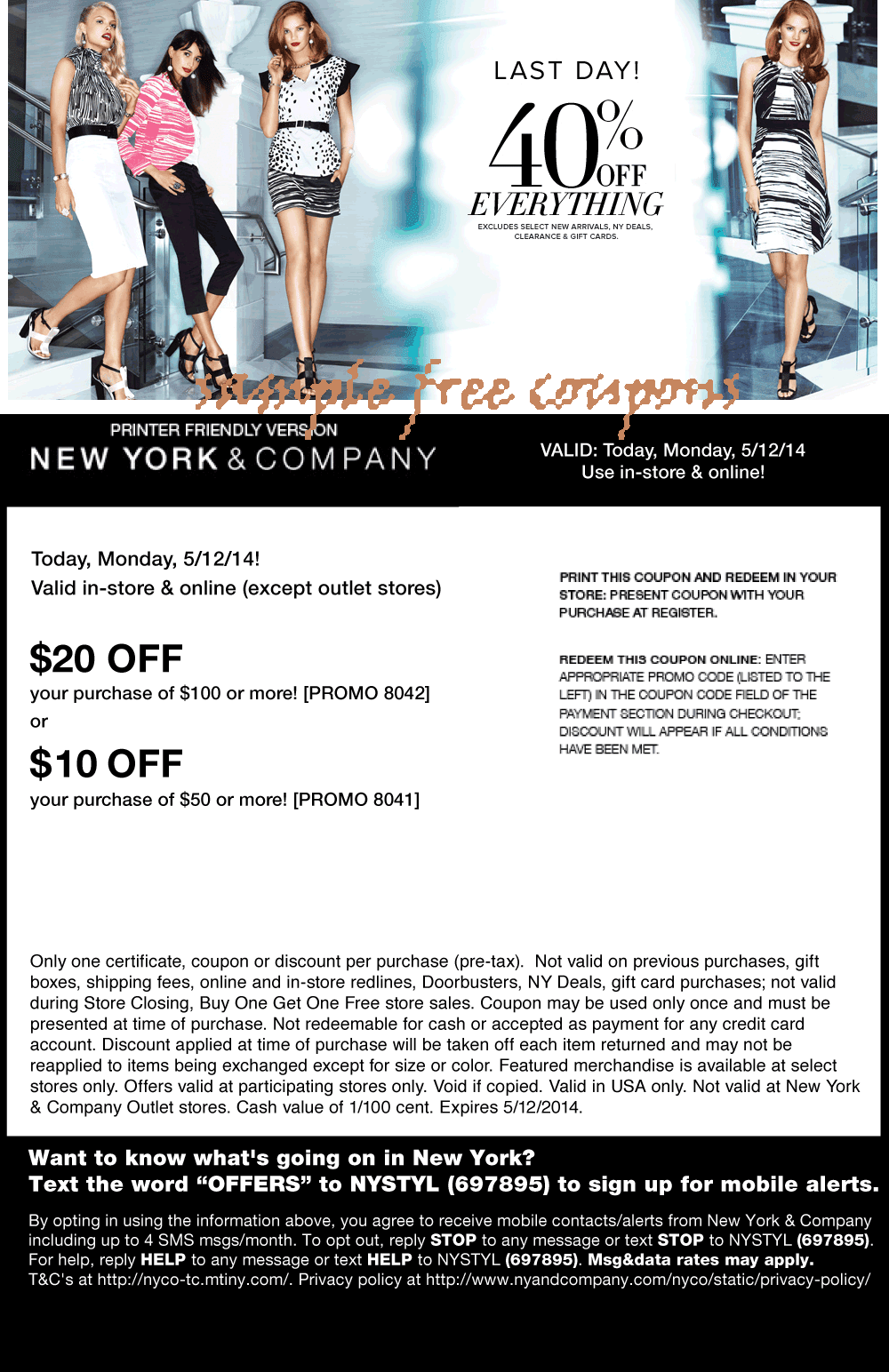 Ny & co coupon code