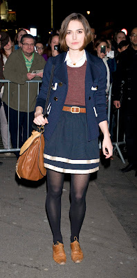 Keira Knightley In Black Nylons