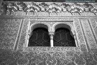 Fachada del Cuarto Dorado. Golden Room facade. Alhambra. Granada. Spain.