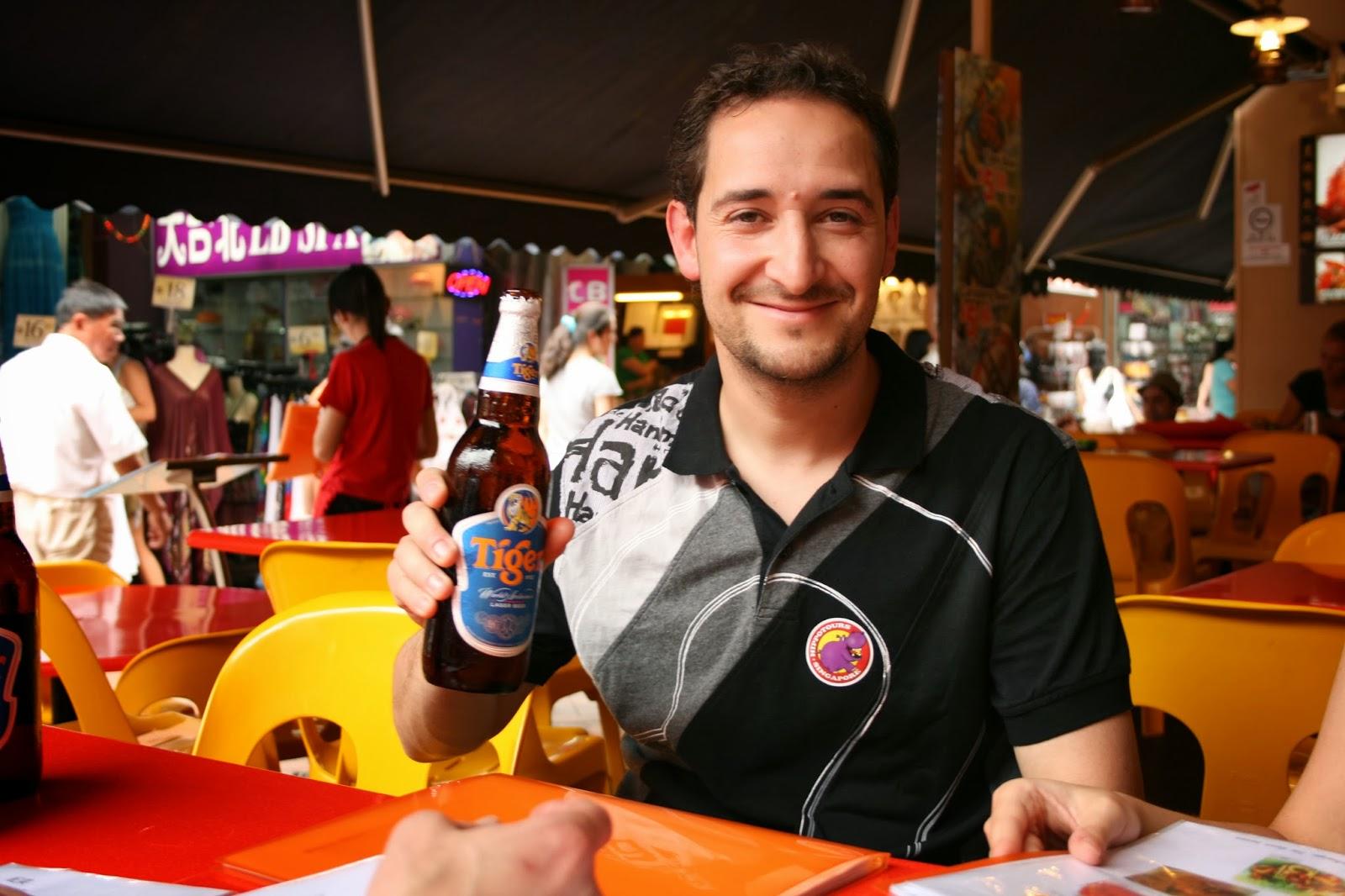 singapur, singapore tiger cerveza barrio chino
