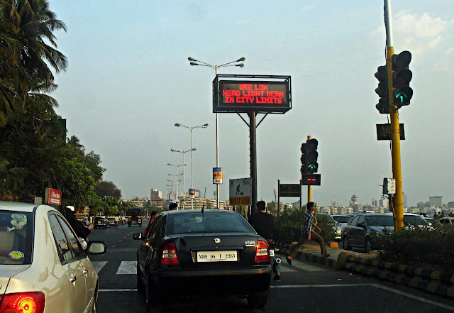 traffic signal on Marine Drive