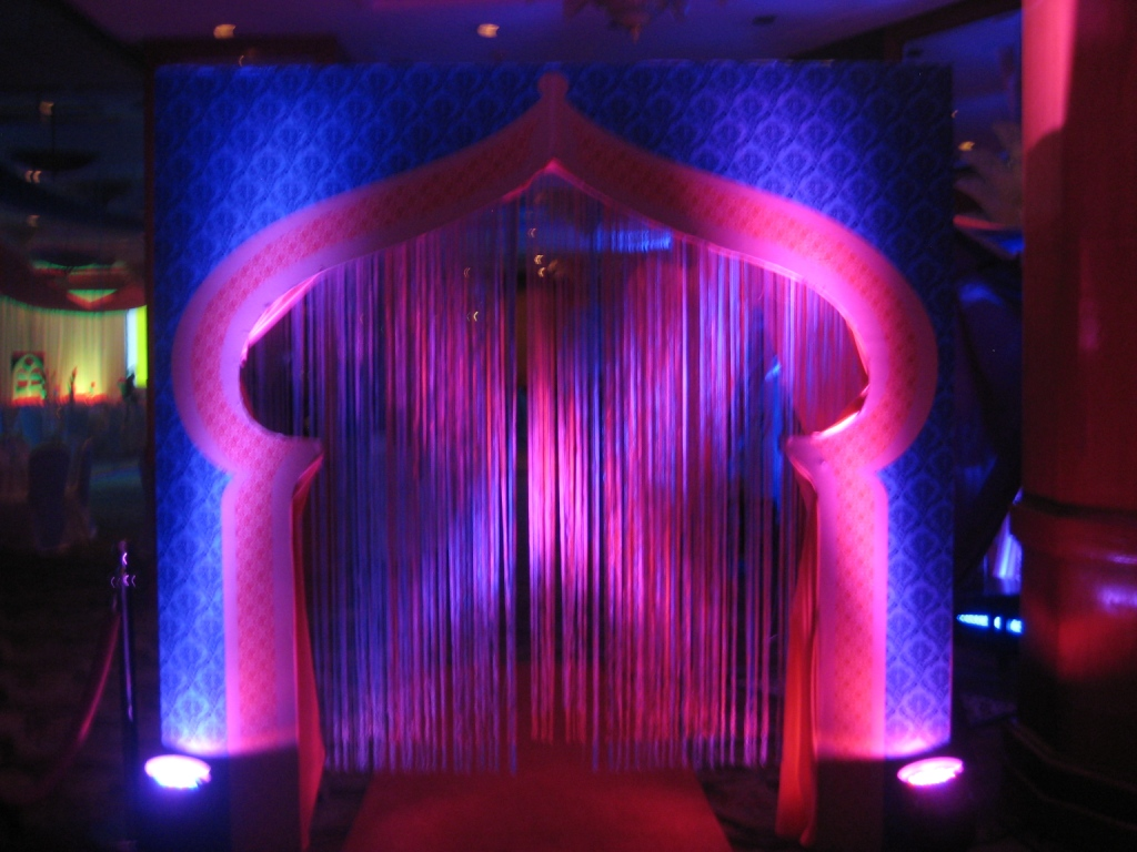 Arabian nights or bollywood themed event for Arabian decoration party