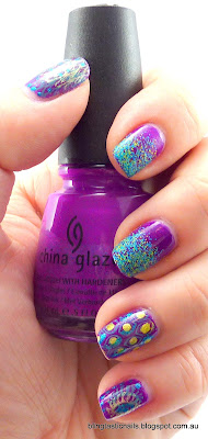 China Glaze Flying Dragon with Floam over it