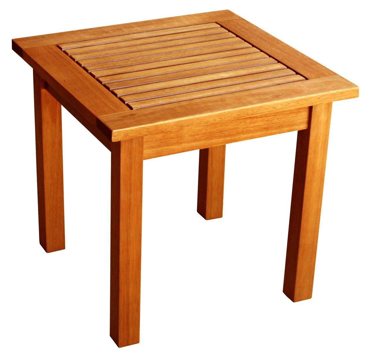 Çıtalı Kare Sehpa Teak square coffee table TN151 Bahçe Mobilyam