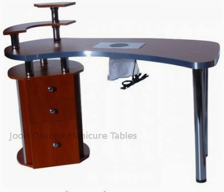 Jools orange manicure tables nail furniture beauty for Manicure table with extractor fan