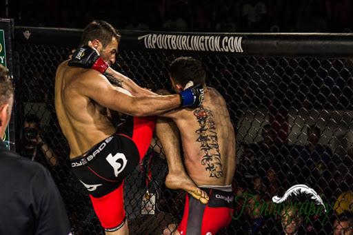 Global Warrior F.C. 2, Adam Assenza vs Taylor Solomon at Burlington Central Arena in Burlington, Ontario on May 30, 2015. Photo: Jeremy Penn / Pennography  NIKON D7100 AF Zoom 17-55mm f/2.8G 1/320, f/2.8 ISO: 1600