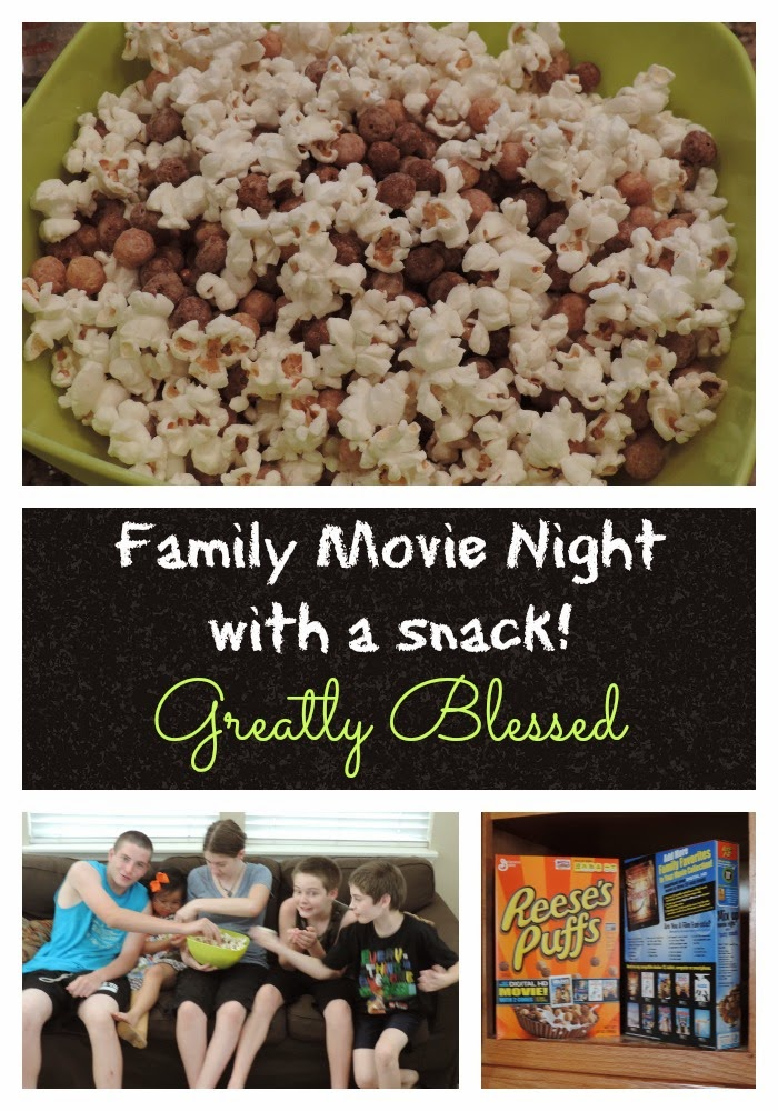 Greatly Blessed Family Movie Night With A Snack