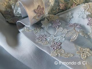 Il mio abito da sposa: dettaglio di stola e gonna