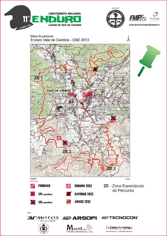 CNE 2013: Enduro Vale de Cambra GuiaPublico_Enduro2013_Mapa