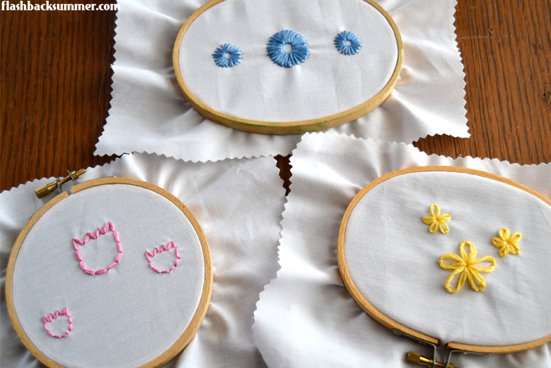 Flashback Summer: how to embroider tulips - sewing DIY