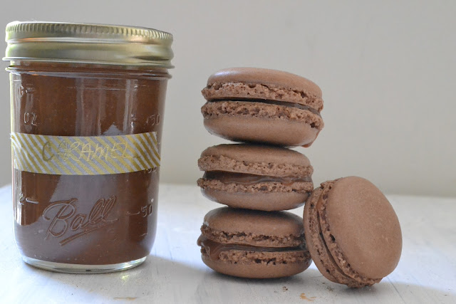 Heart of Gold: Chocolate Macaroons with Salted Caramel Filling