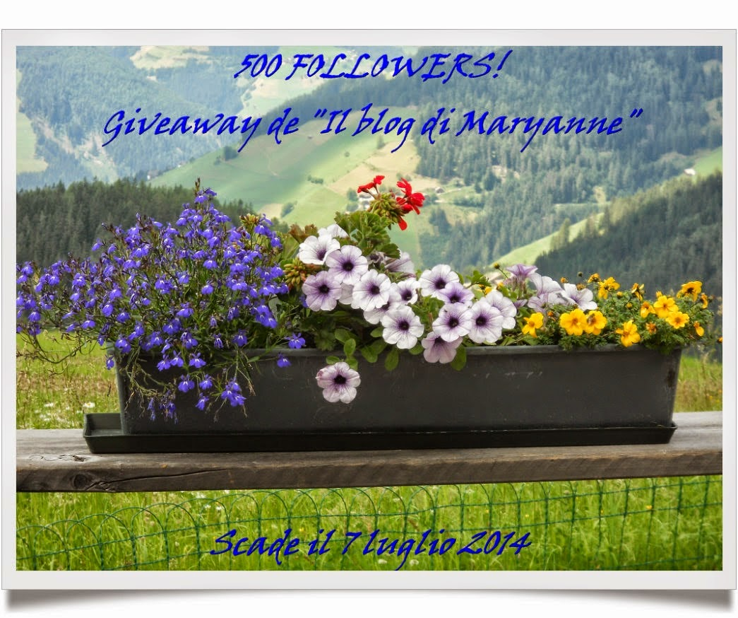 "Giveaway de ""Il blog di Maryanne"""