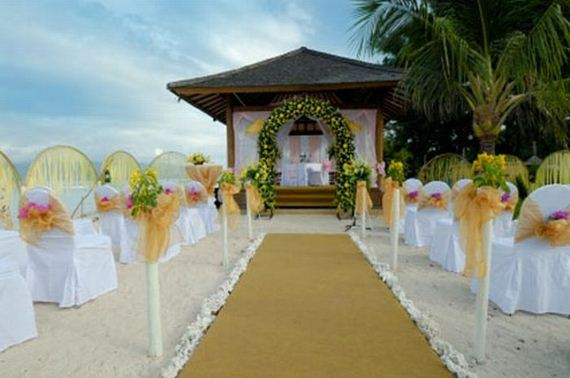 Beautiful beach wedding decorations for Beautiful wedding decorations