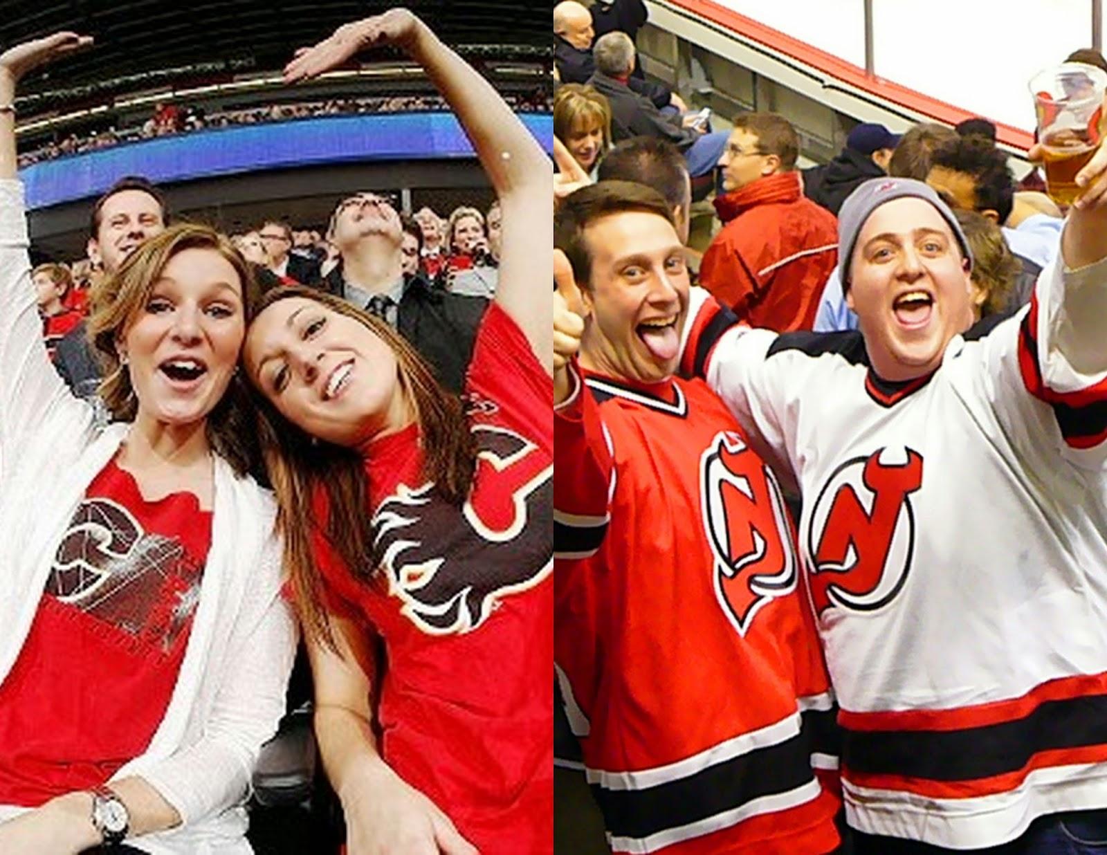 Girl Hockey Fans Female Hockey Fans