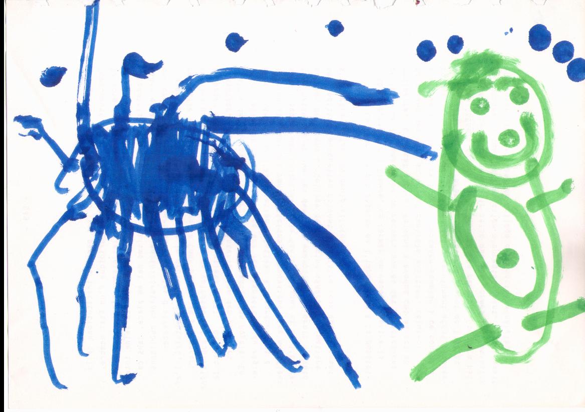 Art work studio ella la patate - Une araignee dans la salle de bain ...