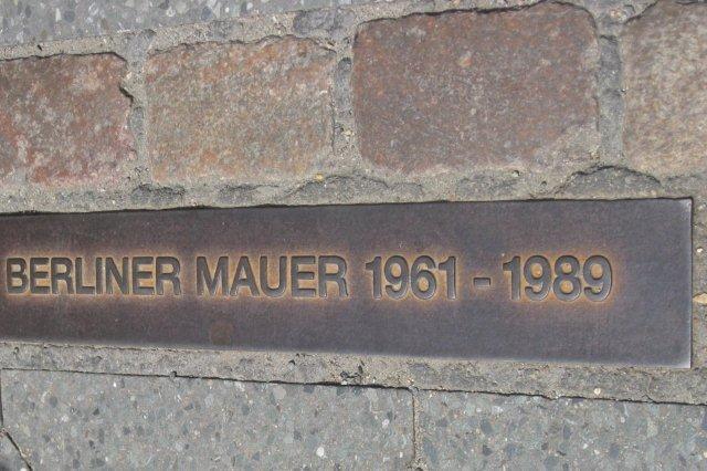 Placa Muro de Berlin