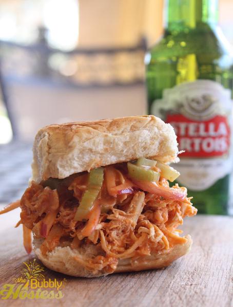 The Bubbly Hostess: Buffalo Chicken Sliders with a Celery Slaw