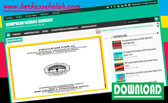 Download Program Kerja PKS Kurikulum SMP SMA 2015