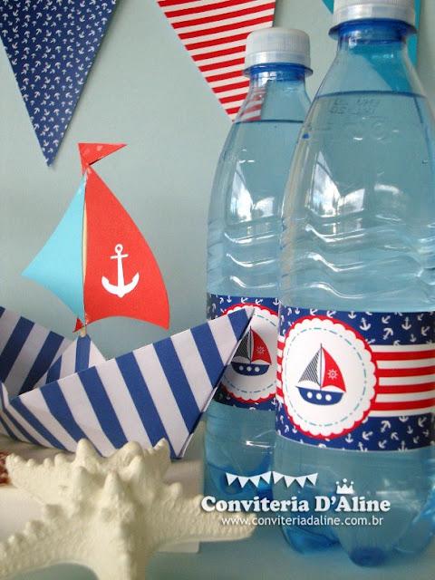 rótulos personalizados festa marinheiro