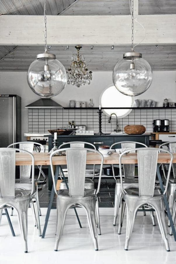 Pendant lights over the dining table norse white design blog Kitchen table pendant lighting