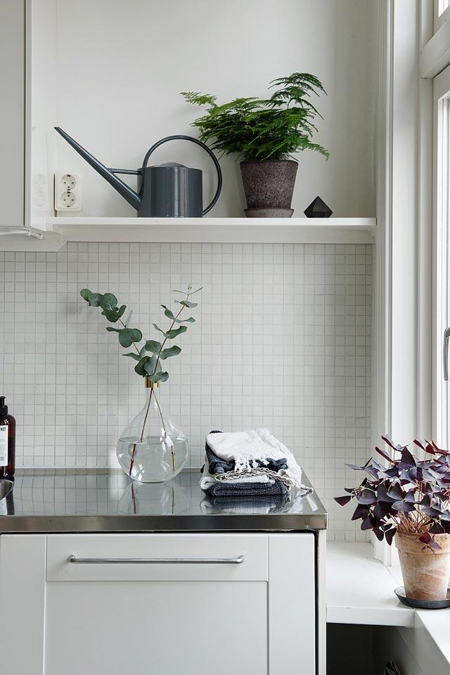 Detalles en una cocina nórdica