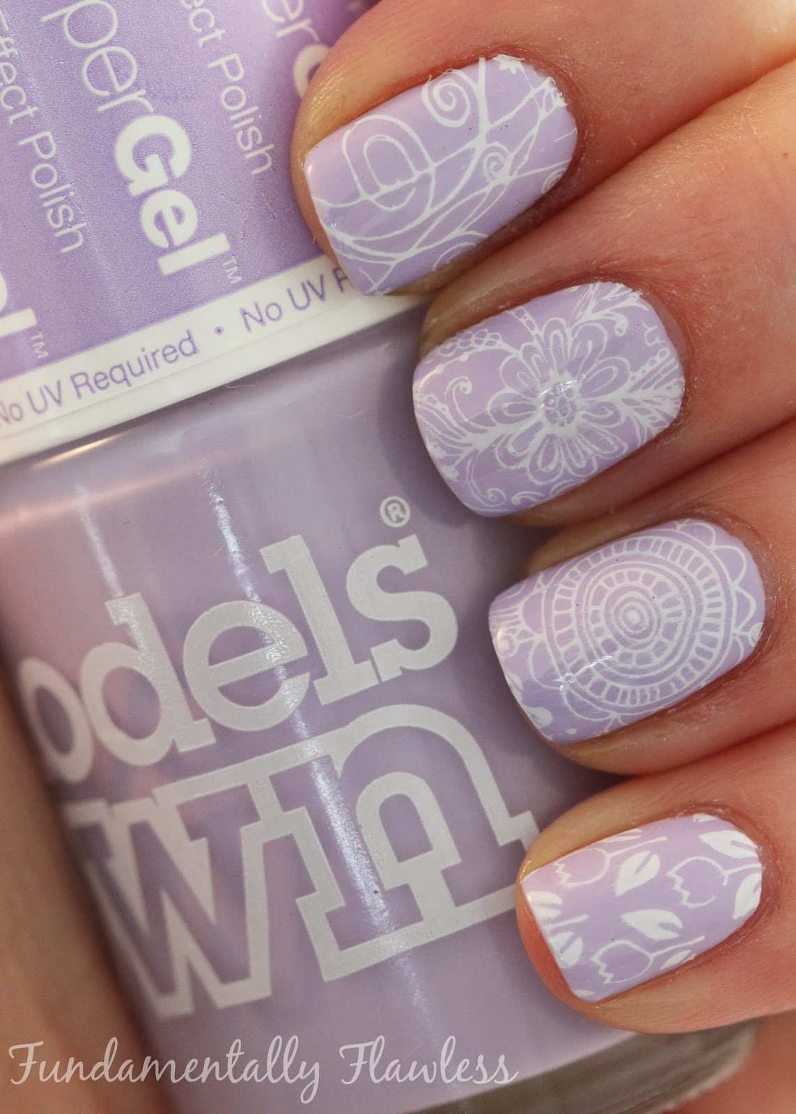 Models Own HyperGel Lilac Sheen with MoYou XL Stamping Plate 14