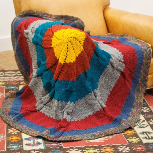 Colorful Knit Throw - Free Pattern