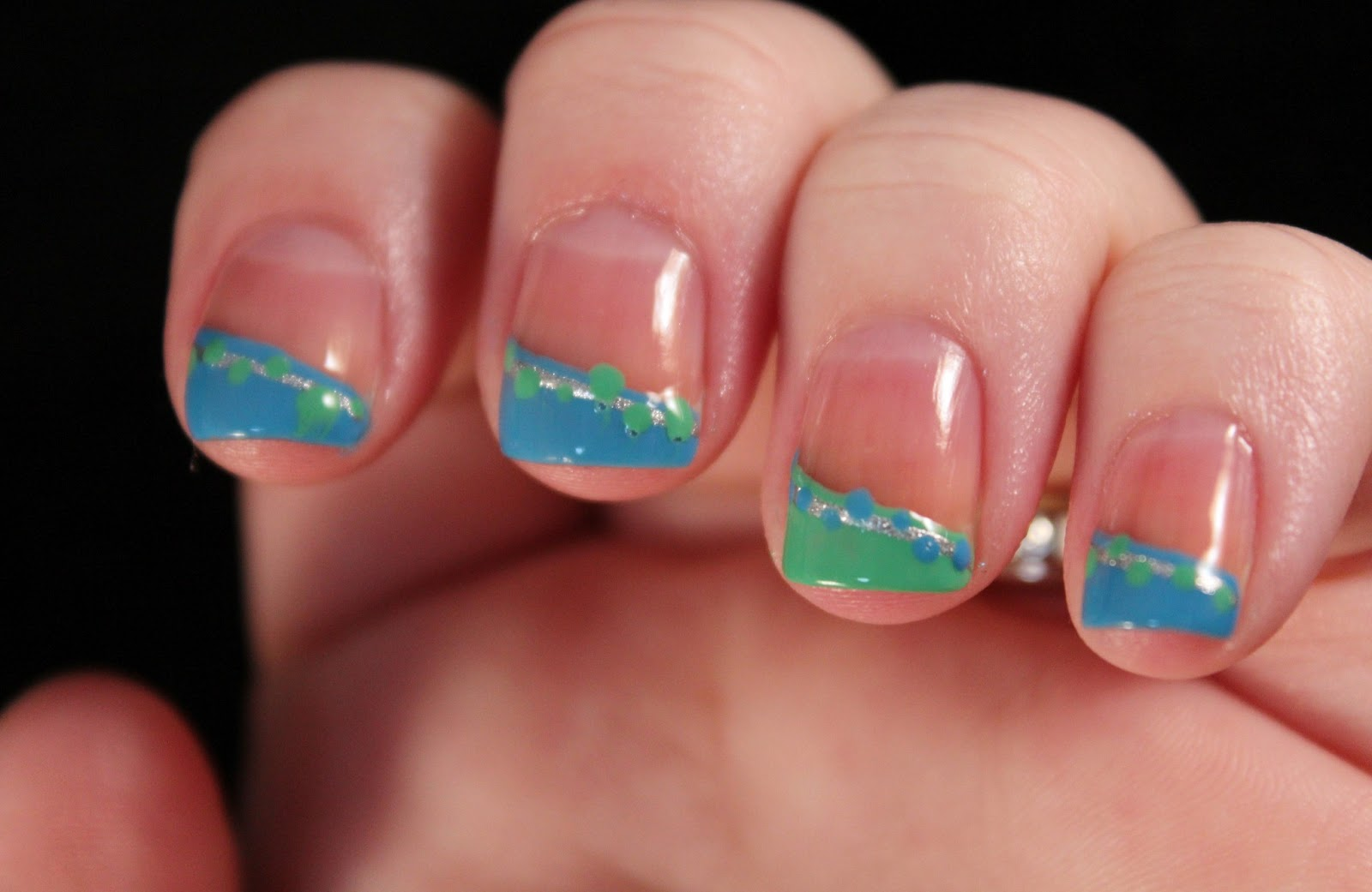 Glimpses of the Moon: Tuesday Tutorial: Fun and Funky French Tip