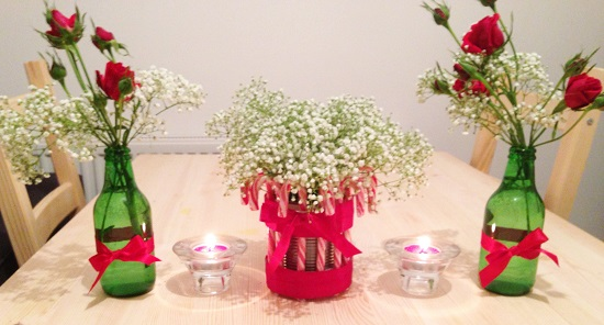 RedLar Decore sua cozinha para o final do ano -> Decoração De Natal Simples E Barata Para Mesa