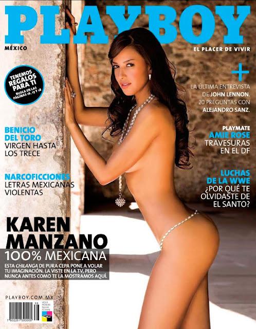 Karen Manzano Revista Playboy México Diciembre 2009