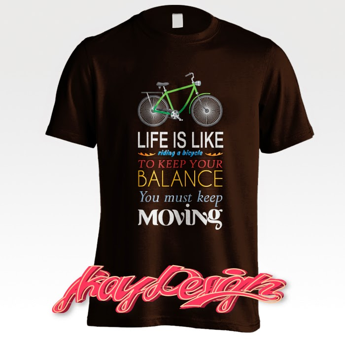 Life is Like Riding a Bicycle Black T-shirt