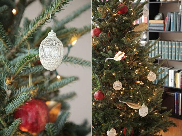 decorar con granadas naturales navidad-arbol navideño natural