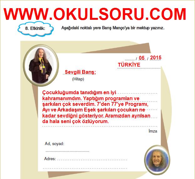 5.Sınıf FCM Yayınları Türkçe Çalışma Kitabı 165.Sayfa Cevapları