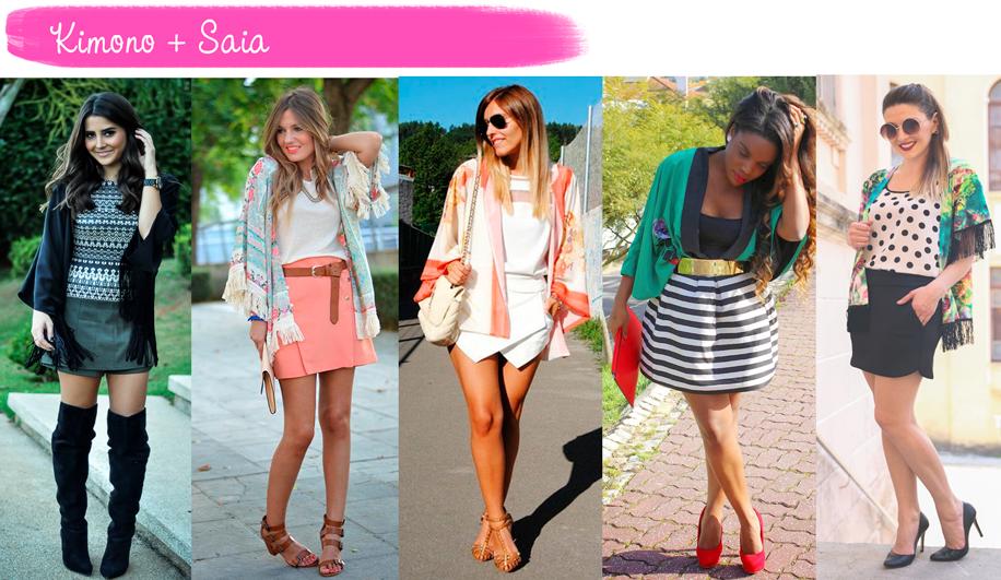 Como usar, Kimono, saia, tendência