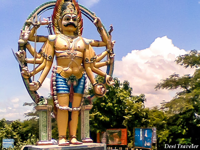 Large idol in srisailam temple town