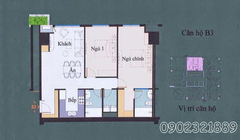 layout căn hộ ssg tower