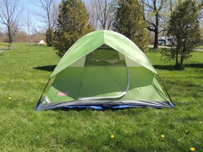 Green Coleman Sundome 4 Person Tent Review & Coleman Tents