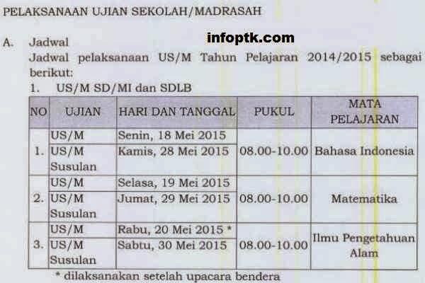 Jadwal Ujian Nasional
