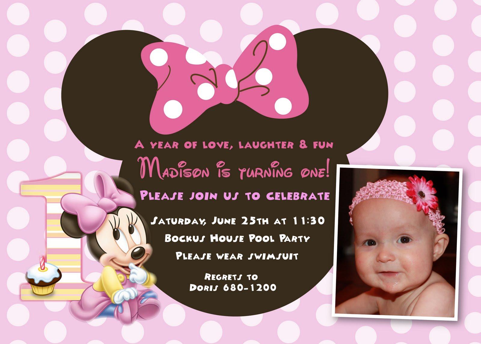The Bockus Family Happy 1st Birthday Madison Isabella