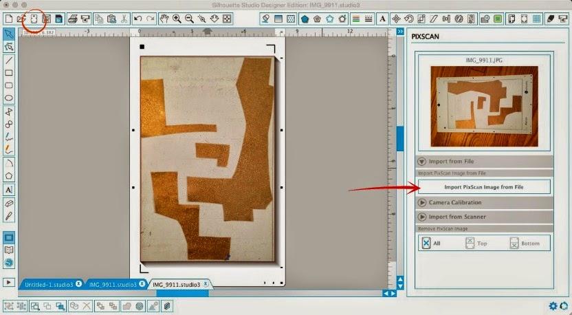 Using Silhouette Pixscan To Maximize Scraps Silhouette