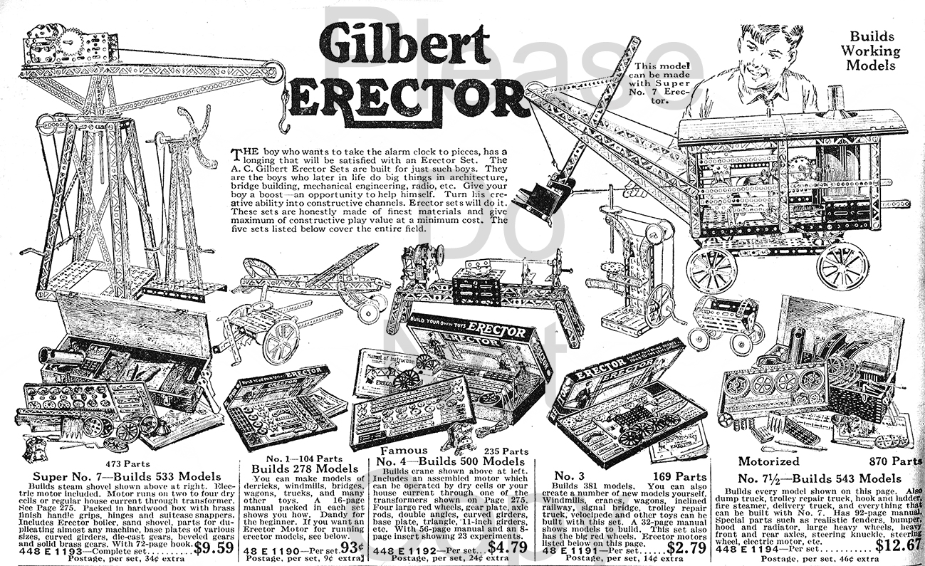 Old Antique Toys A C Gilbert Erector Sets