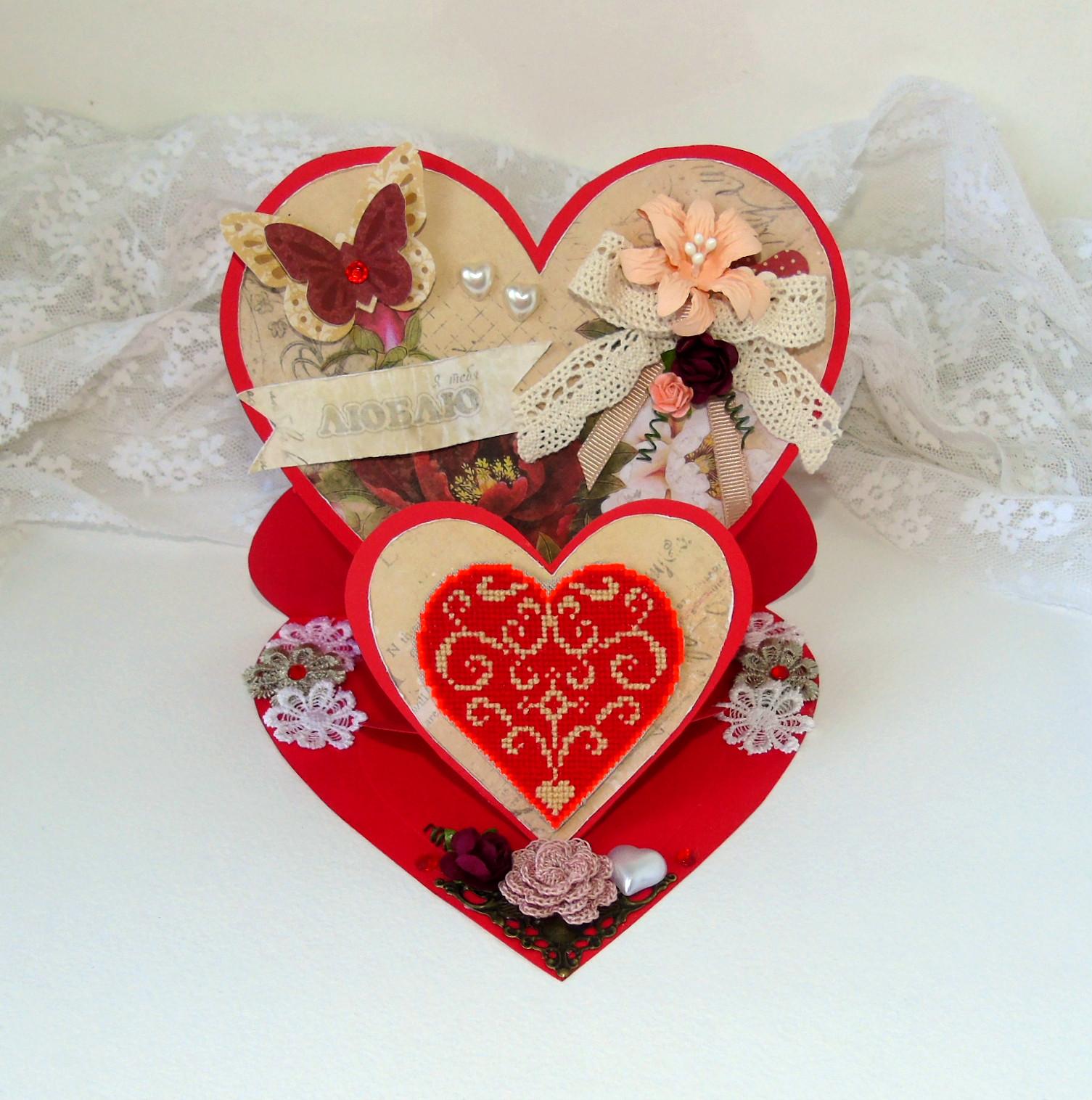 Валентинка своими руками красивые