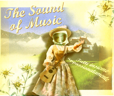science fiction vintage illustration sound of music